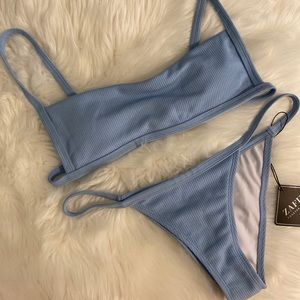 Zaful Blie Textured Bikini